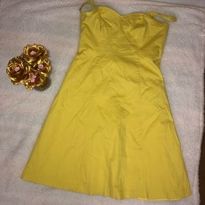 H&M Yellow A-Line Dress Sz 16